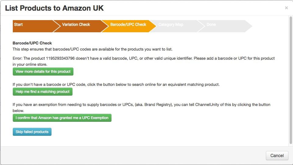 amazon brand registry upc